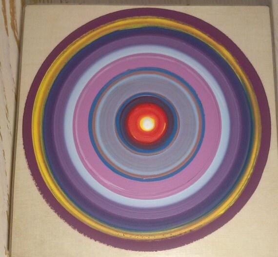 Items Similar To Tree Ring Painting Abstract Wall Art