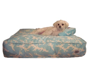 Designer Dog Bed Cover with Matching Pillow Sham
