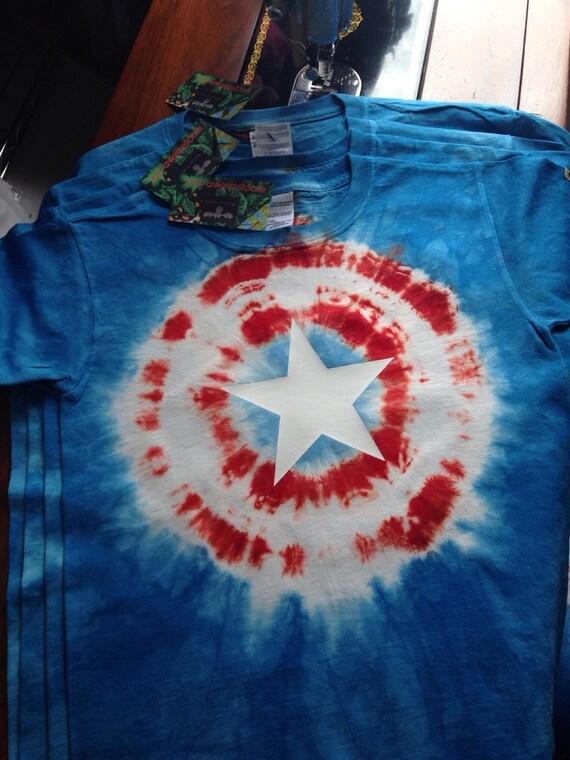 Items Similar To Captain America Tie Dye T Shirt Childrens