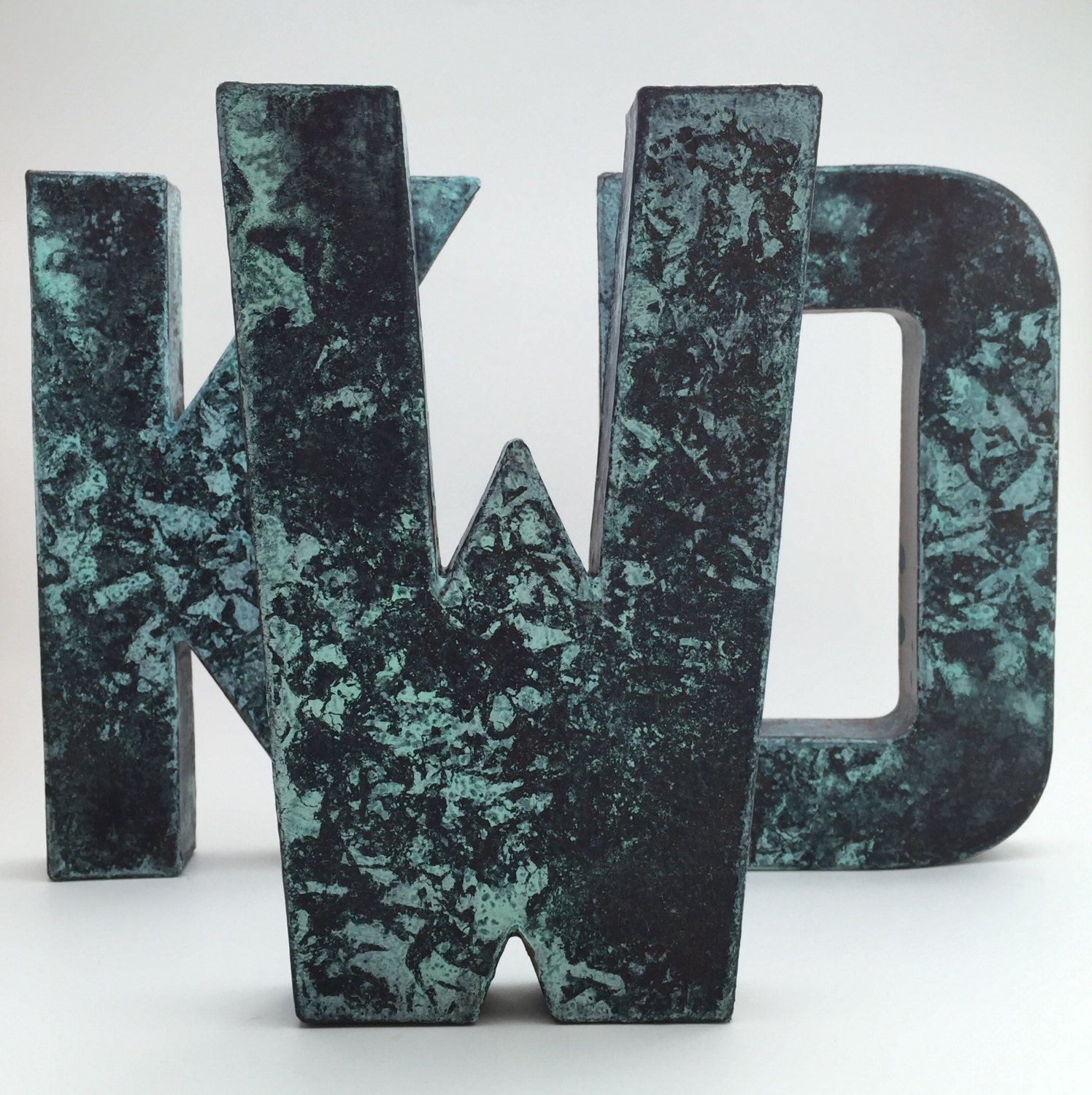 Faux Metal Letters Aged Bronze Metal by TheEleventhLetter