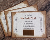 Save the Date Scratch off- Rustic wedding Save the Date- Ticket Save the Date-Vintage Save the Date