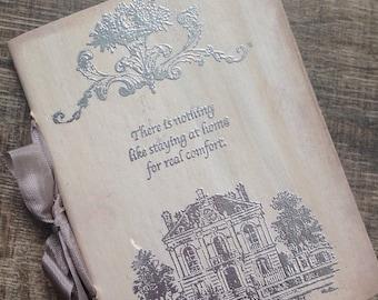 Jane Austen Notebook-Valentines Gift-Rustic- Journal- Jane Austen-Diary