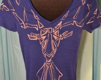 Oh Deer Tee- Bleached T-Shirt- PP 405