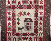 """A Christmas Wish Finished Quilt  Lynette Anderson Fabrics by Lynette Anderson from Scandanavisan Christmas for Lecian Finished Size 72""""x 81"""""""