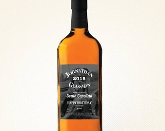 Custom Wine or Liquor Label - Bridesmaid, Groomsman or Birthday Gift (Custom Photo Background)