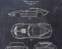 Patent Print of a Corvette - Patent Art Print - Patent Poster - Car - Auto - Automobile