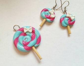 Sweety earrings and pendant