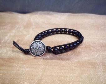 Midnight Goldstone Starry Night Bracelet