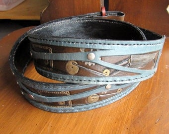 Leather Belt, Personalized & Layered for Unique Appearance