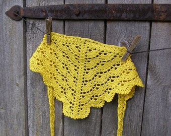 Crochet head scarf, Cotton hair kerchief for girl toddler, summer accessories, made to order