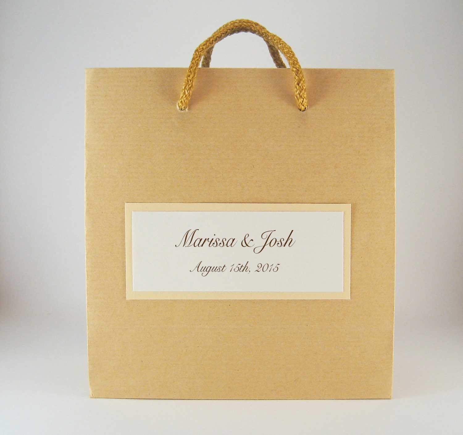 Rustic Wedding Favor Bags 40 Square Kraft Brown by stoykaspaperie