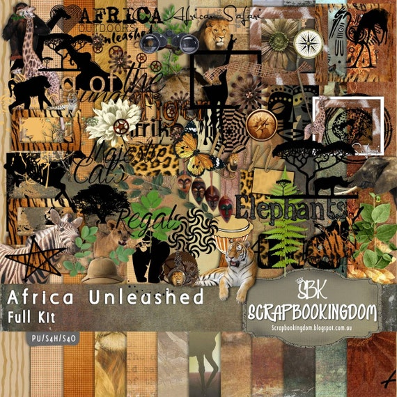 African Digital Scrapbook Kit Africa By Scrapbookingdom