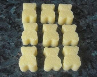 Cocoa Butter Bath Melts - Pack of 9 -   teddy bears 85g - Bath Oils,