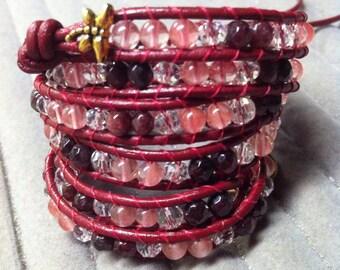 WRAP BRACELET Four Wrap Bracelet DRAGONFLYWRAPS