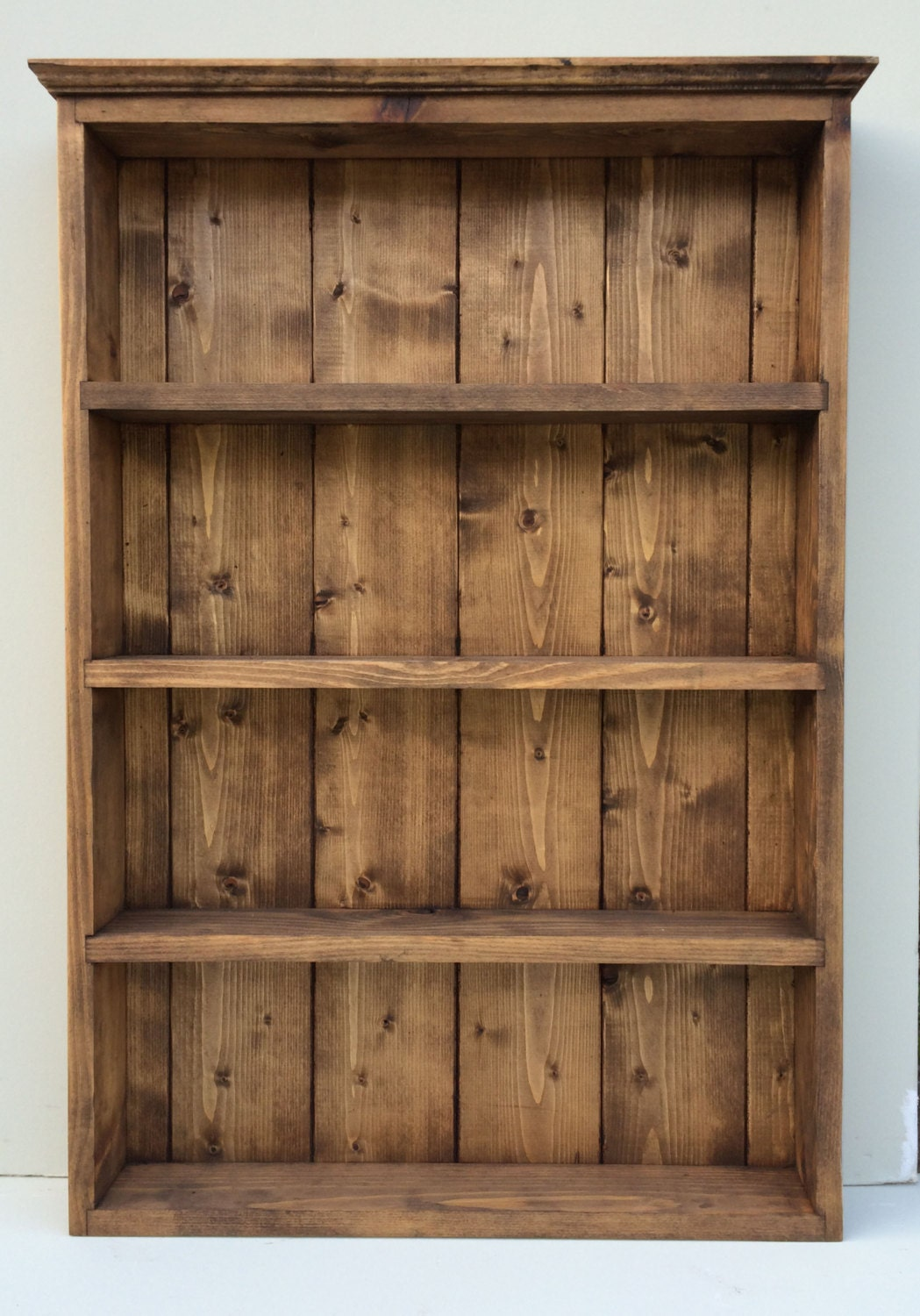 Rustic handmade spice rack organiser wall by silverapplewood for Spice cabinet ideas