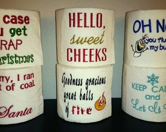 Unique Toilet paper, excellent funn y gift ...