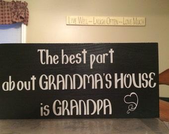 Grandma & Grandpa sign