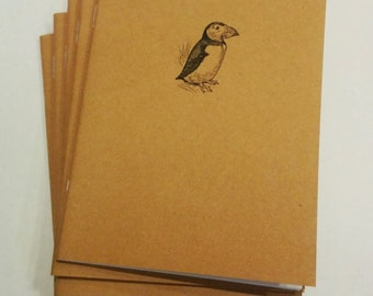 Puffin Mini Notebook - diary, journal, party favors, multipack, exotic bird, penguin, custom printing included