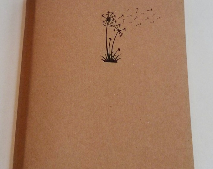Dandelion Mini Notebook - diary, journal, party favors, multipack, flower, floating leaves, custom printing included