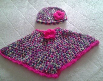 toddler girl poncho, poncho age 1-2, crochet girl poncho, baby poncho, girl poncho, crochet poncho, girl poncho, ready to ship