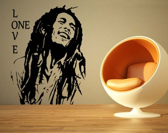 Large Music Bob Marley One Love Reggae Wall Art Decal Mural Sticker Bedroom  Living Lounge Kitchen Part 65