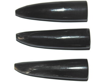 Genuine Water Buffalo Horn Tips X3 - Polished