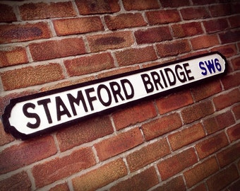 Stamford Bridge Faux Cast Iron Old Fashioned Street Sign