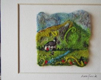 OOAK Needle Felt Folk Art Painting by Adele Froude