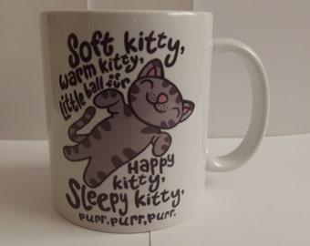 Soft Kitty Warm Kitty Little Ball of Fur Picture Coffee Mug