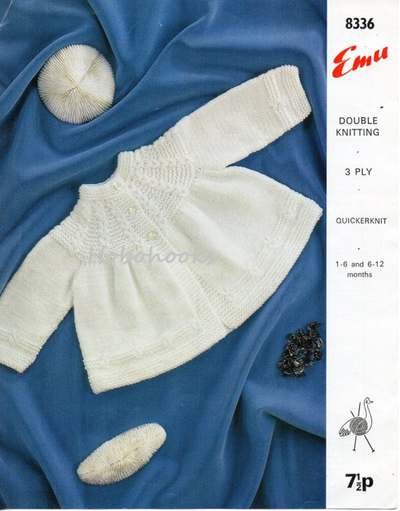 Knitting Patterns For Babies Matinee Coats : Baby Knitting pattern baby matinee coat baby matinee jacket