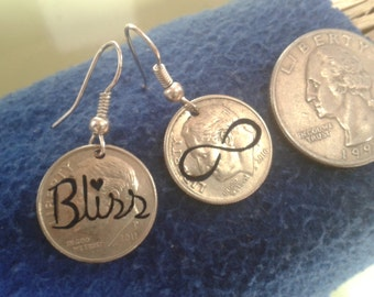 earrings cut coin bliss