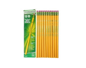 12 #4 Drawing Pencils, Extra Hard Sketching Pencils; 12 Box Dixon Ticonderoga Wood Cased Graphite Pro Pencils; Artists Set