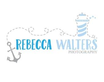 Premade anchor photography logo, design photography watermark, camera logo
