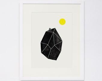 TINY WORLD No. 1,, Linocut Print