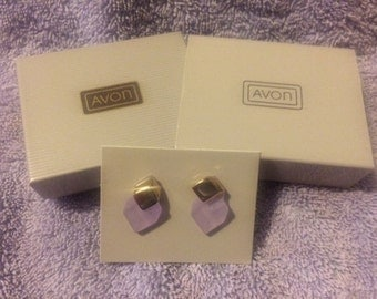 Vintage Avon Crystal Impressions Earrings New in Box 1985