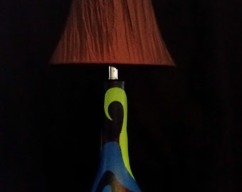 """Psychedelic lamp II  24""""tall"""
