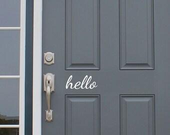 Hello ~ Front Door Decor Decals