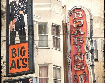 Big Al's Adult Bookstore, San Francisco,roaring 20's,Photography, red light district