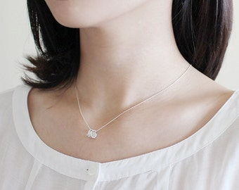 tree bark necklace 2. - white silver