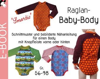 PDF Raglan BABY BODY * smartie * Gr. 56-98 (0 m-3T) sewing pattern