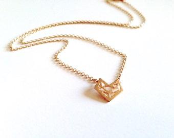 Necklace origami Fox