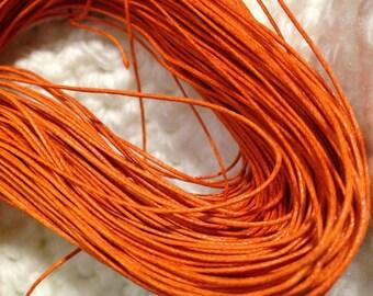 10 metres of wax string wax cord orange