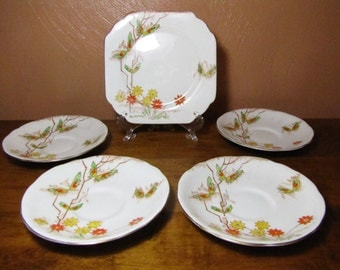 Vintage Gladstone Bone China Plates (5)