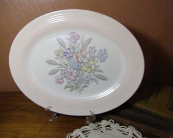 Vintage Serving Platter Triumph by American Limoges, Oslo Pink