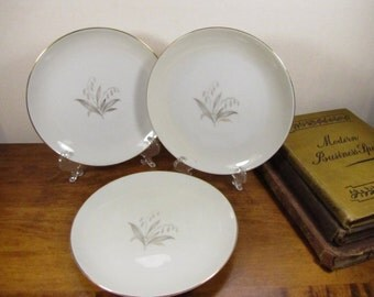 Vintage Kaysons Golden Rhapsody Small Plates - Set of Three (3)