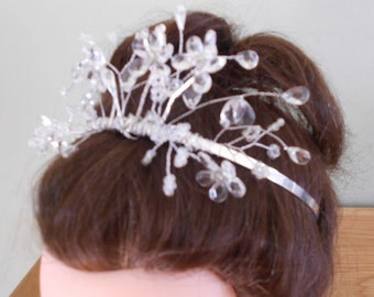 Sparkly Silver and Crystaline Handmade Tiara. Sale Price. Greatly Reduced for a quick sale