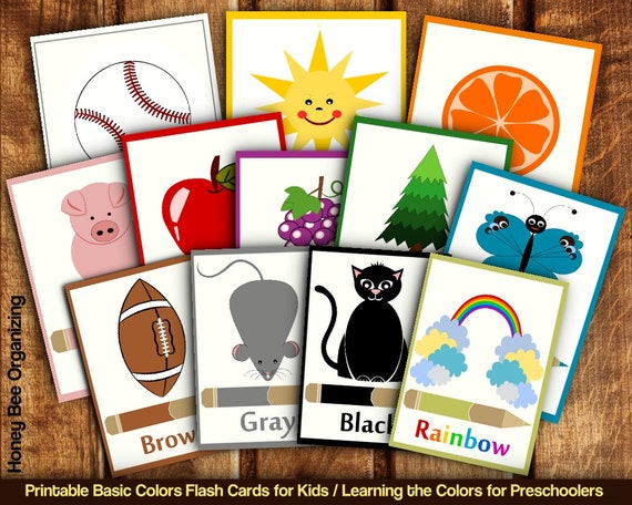 Zany image for printable flashcards for toddler