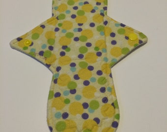 Flannel Day Pad 10 Inches Polka Dots