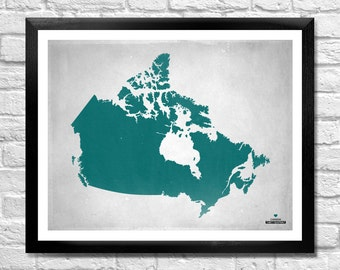 Canada Map Personalized Art Print