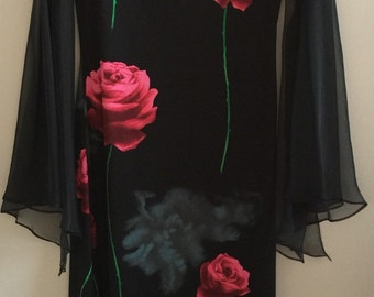 Vintage 90's floral dress with kimono sleeves